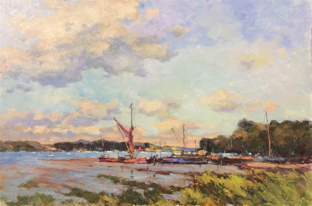 """Melissa  On The Hard...Pin Mill"" original fine art by John Shave"