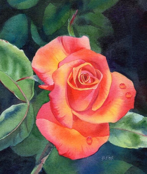 """Love Is Near"" original fine art by Barbara Fox"