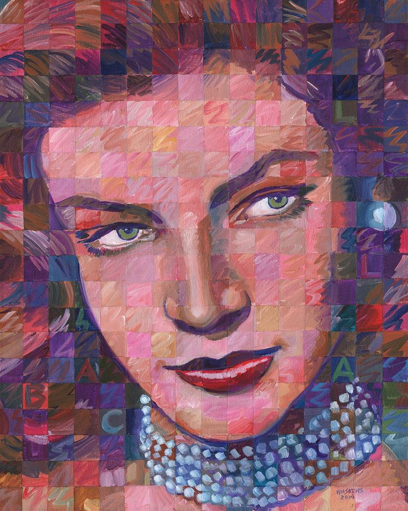 """Lauren Bacall #2"" original fine art by Randal Huiskens"