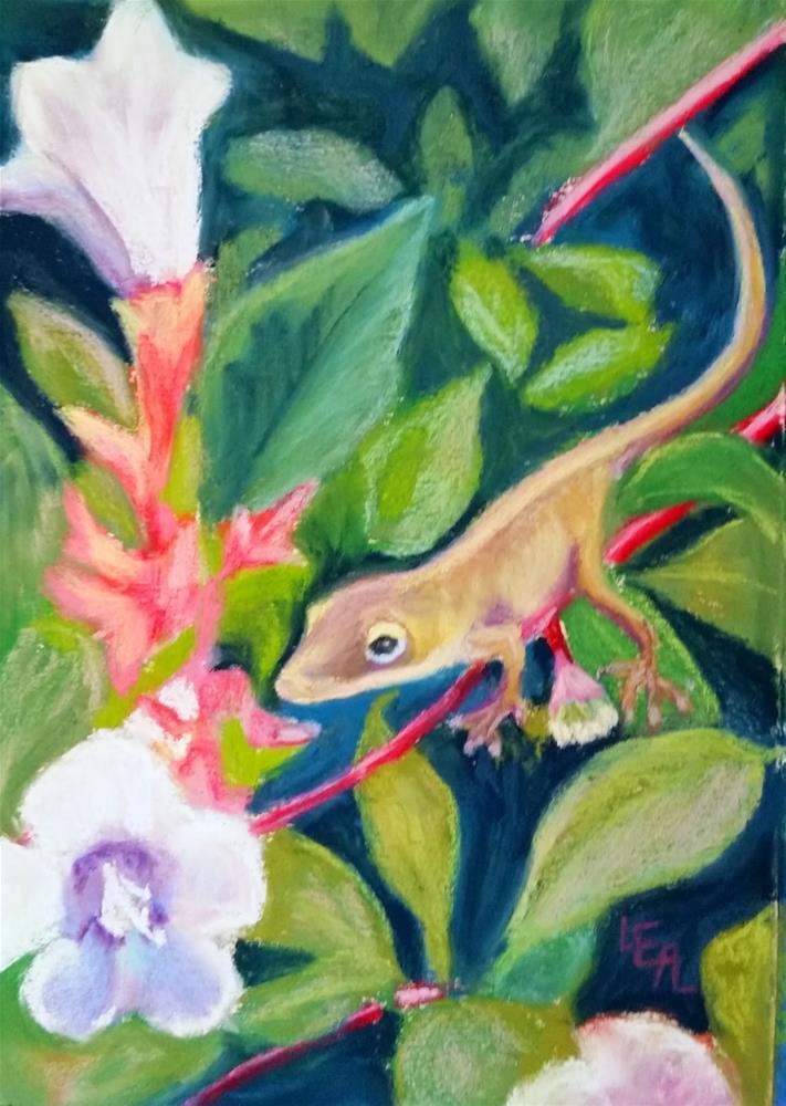 """Teeny Tiny Lizard"" original fine art by Anna Lisa Leal"