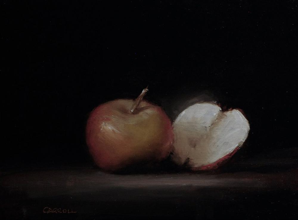 """Apple and a Half - Study"" original fine art by Neil Carroll"