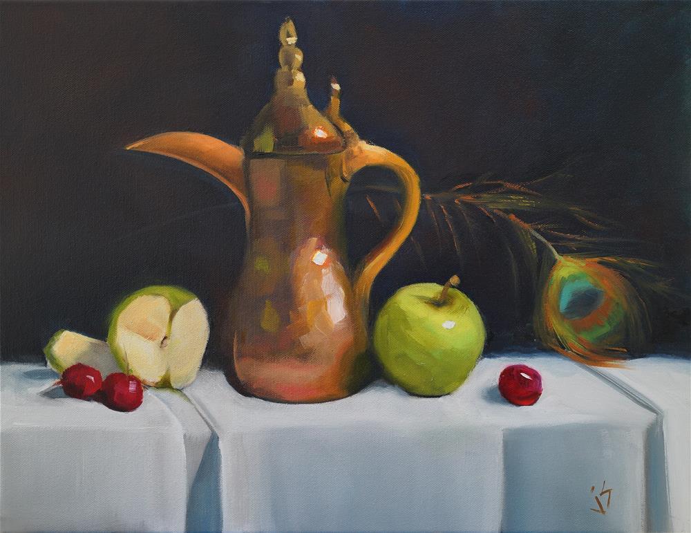 """""""Turkish Delight (14  x 18)"""" original fine art by Johnna Schelling"""