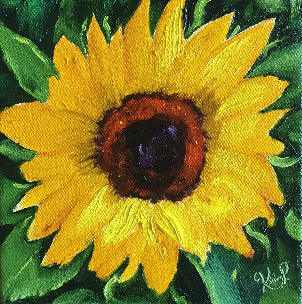 """Sunflower Study "" original fine art by Kim Peterson"