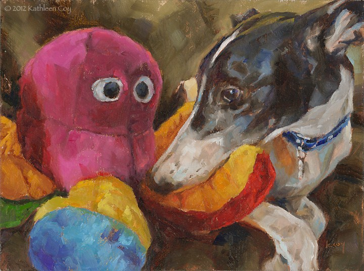 """Spot and the Honktapus"" original fine art by Kathleen Coy"