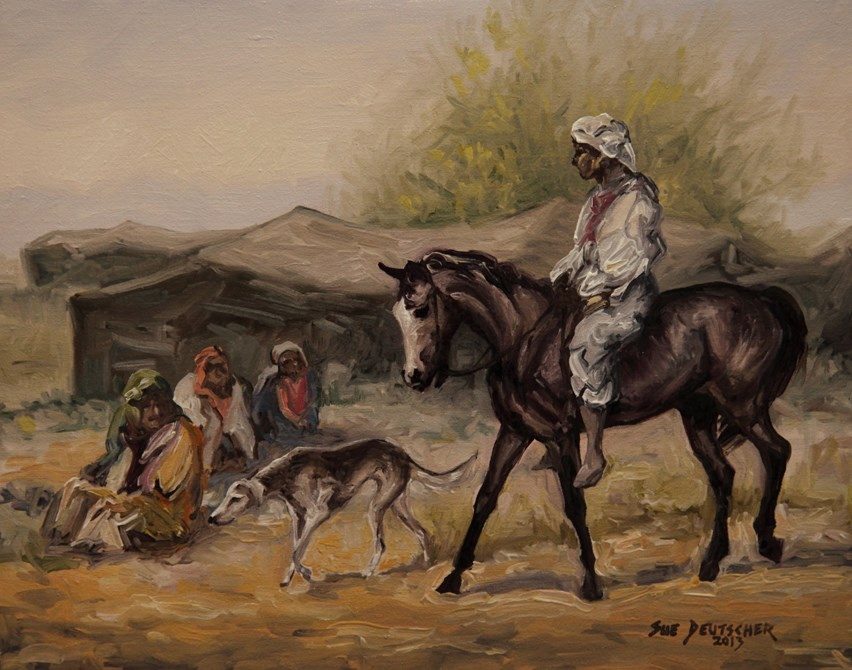 """Bedouin Camp"" original fine art by Sue Deutscher"