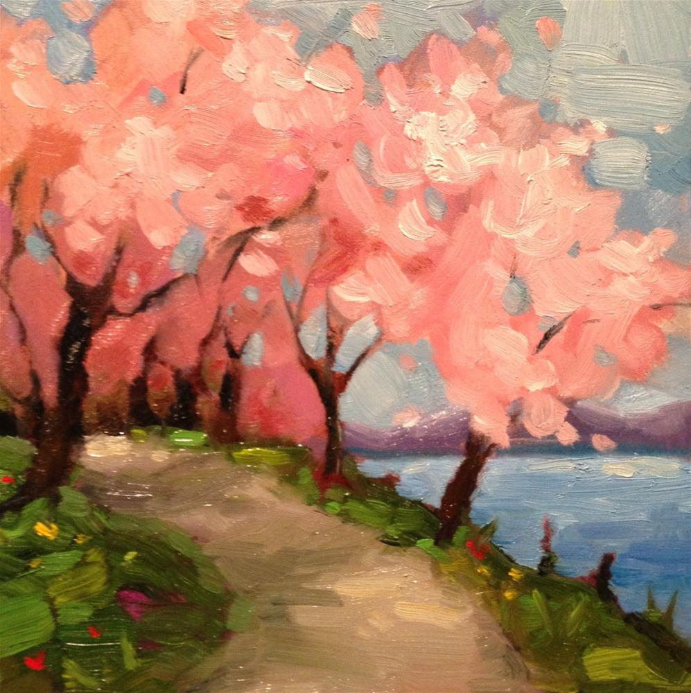 """Cherry blossoms"" original fine art by Krista Eaton"