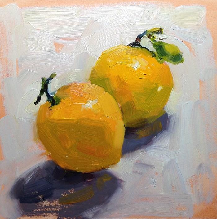 """California Lemons"" original fine art by Katia Kyte"