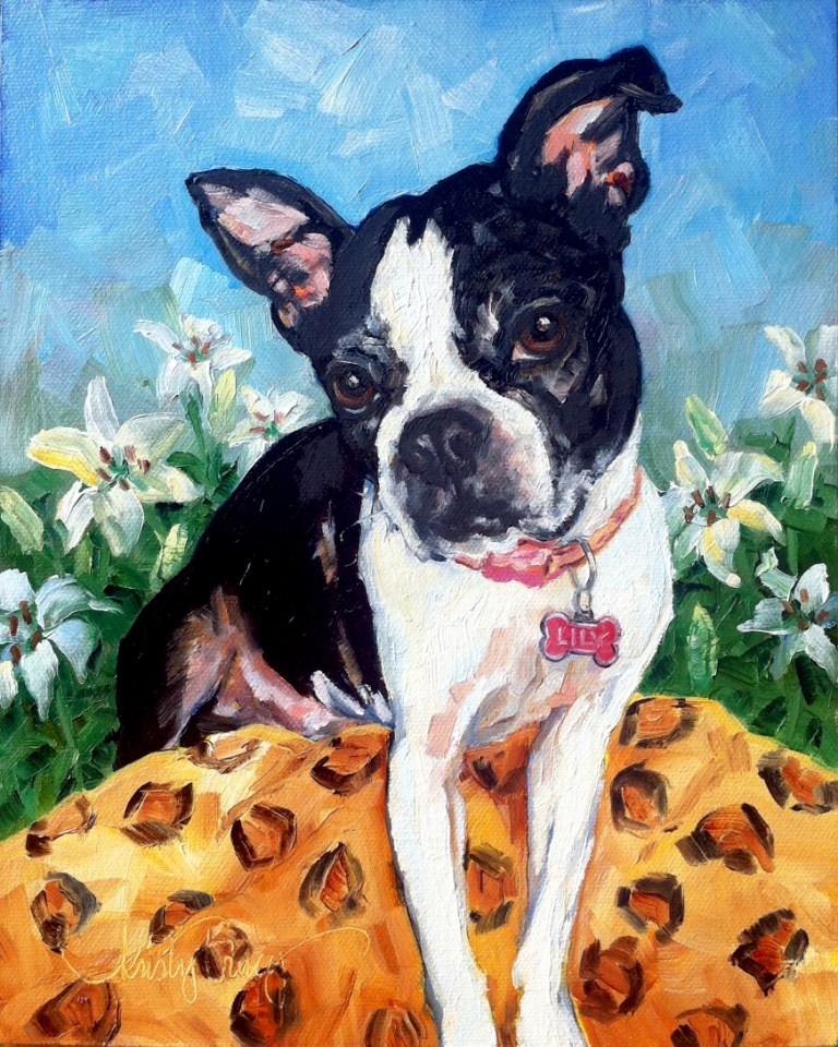 """LILY"" original fine art by Kristy Tracy"