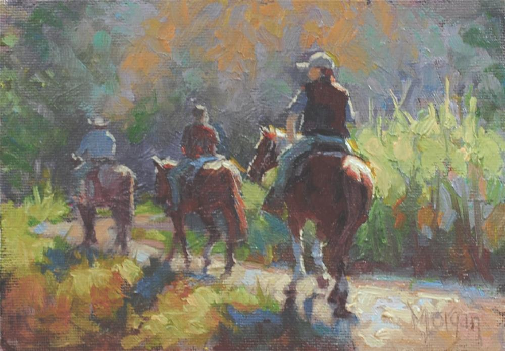 """Happy Trails"" original fine art by Cecile W. Morgan"