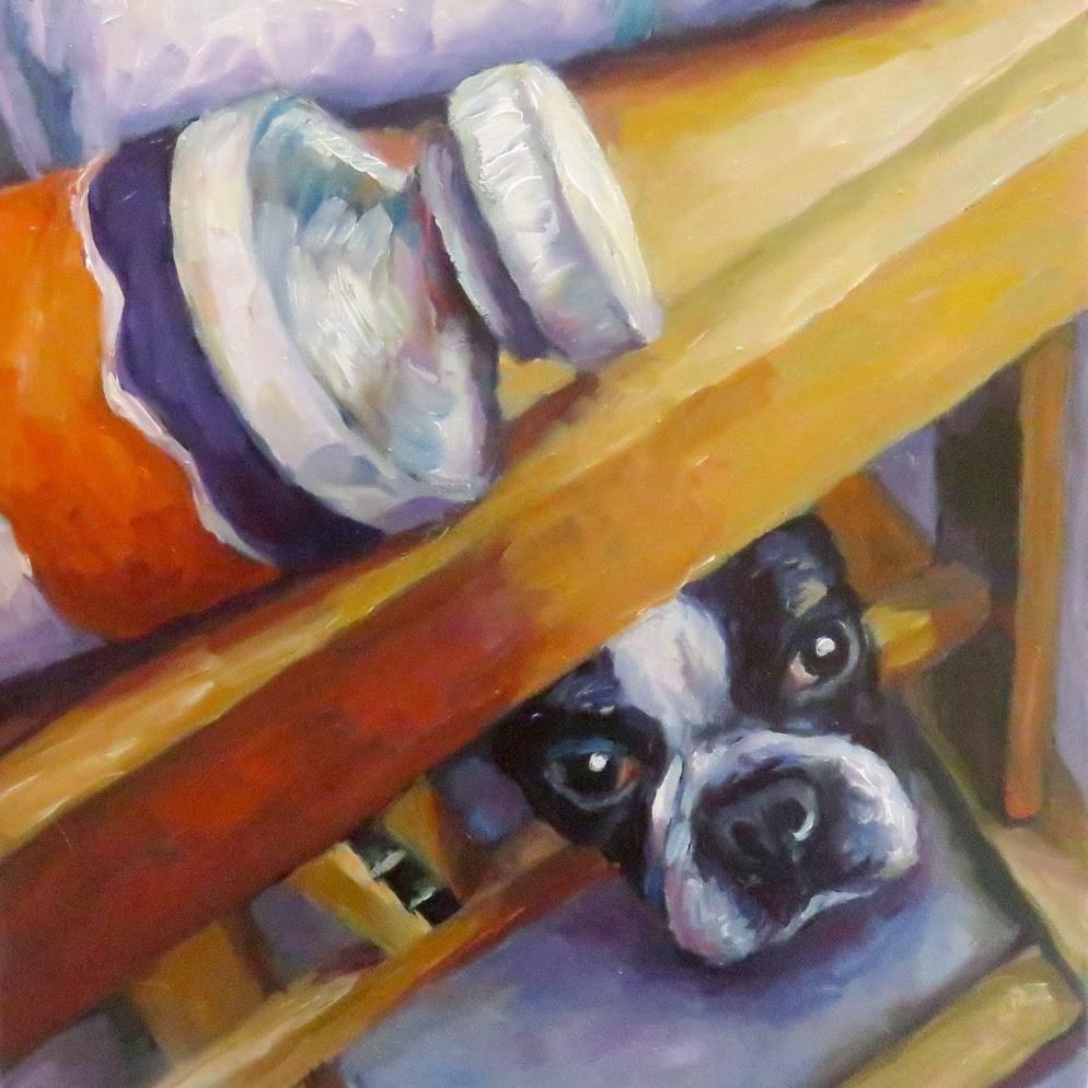 """Under easel"" original fine art by Kerry Forsythe"