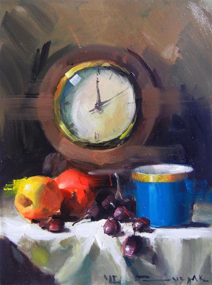 """A clock"" original fine art by Dragan Culjak"