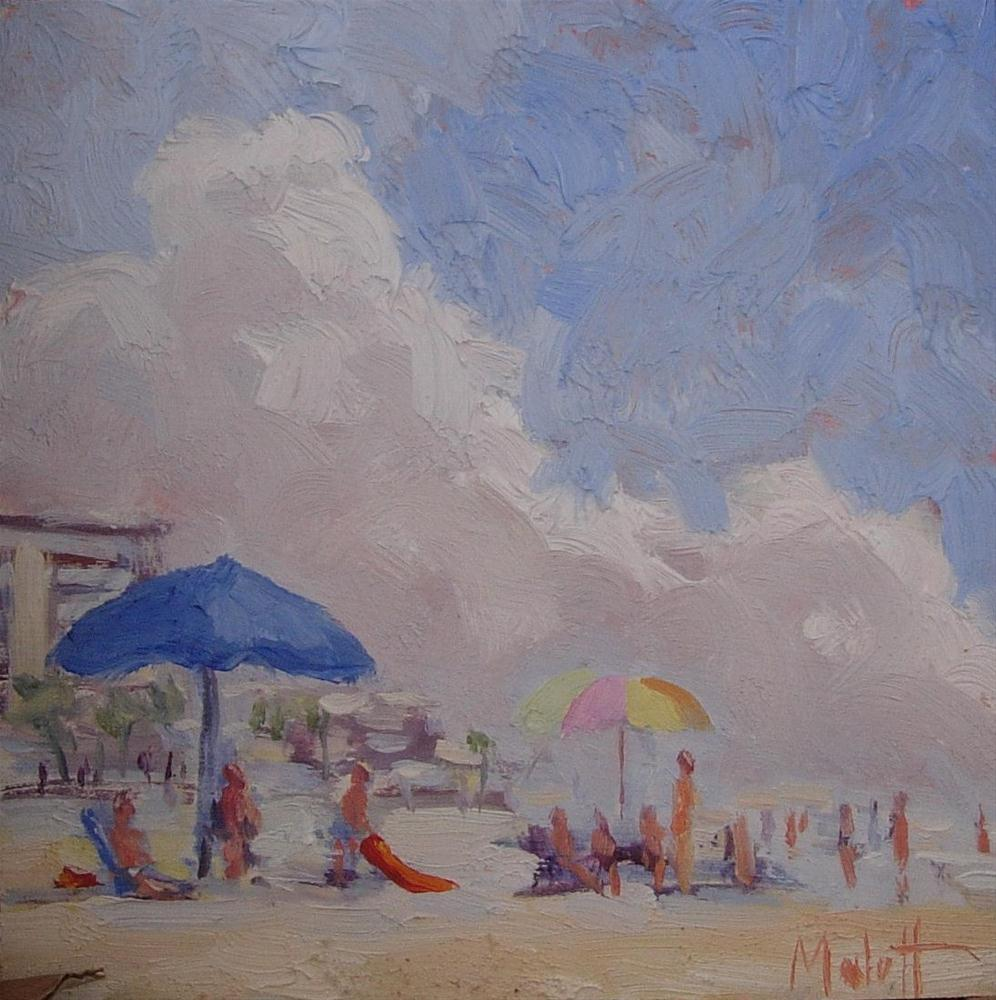 """Sea Spray Plein Air"" original fine art by Heidi Malott"