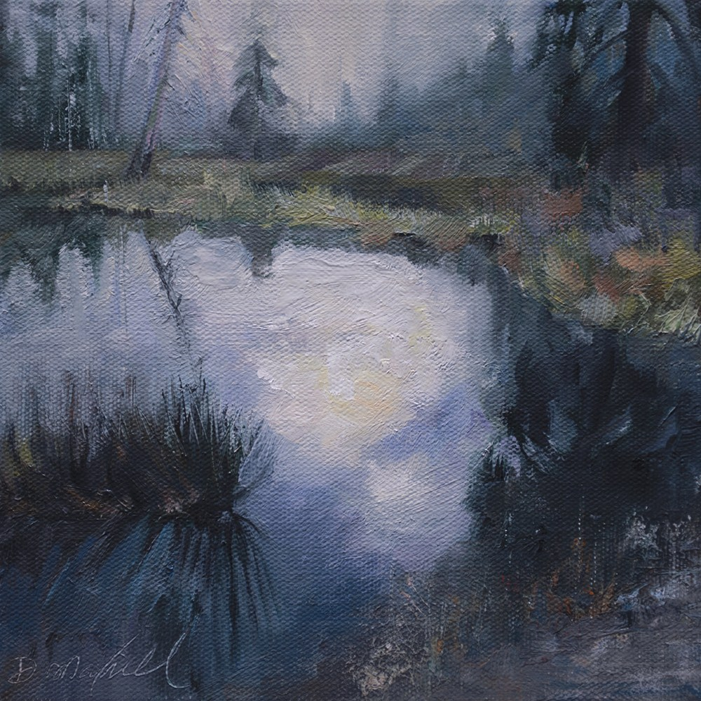 """Old Beaver Dam on a Rainy Day"" original fine art by Denise Maxwell"