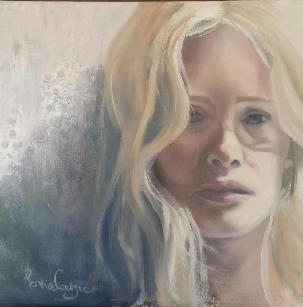 """Wallflower"" original fine art by Rentia Coetzee"