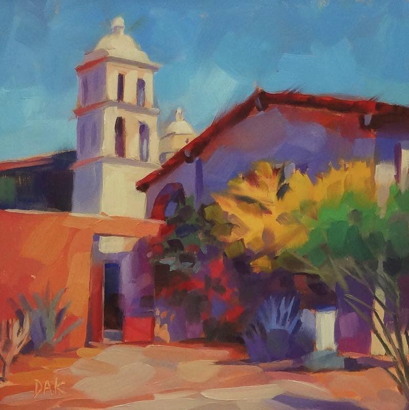 """""""Mission Color"""" original fine art by Deborah Ann Kirkeeide"""