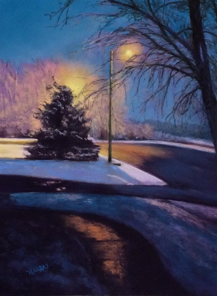 """Winter Night"" original fine art by Christina Karras"