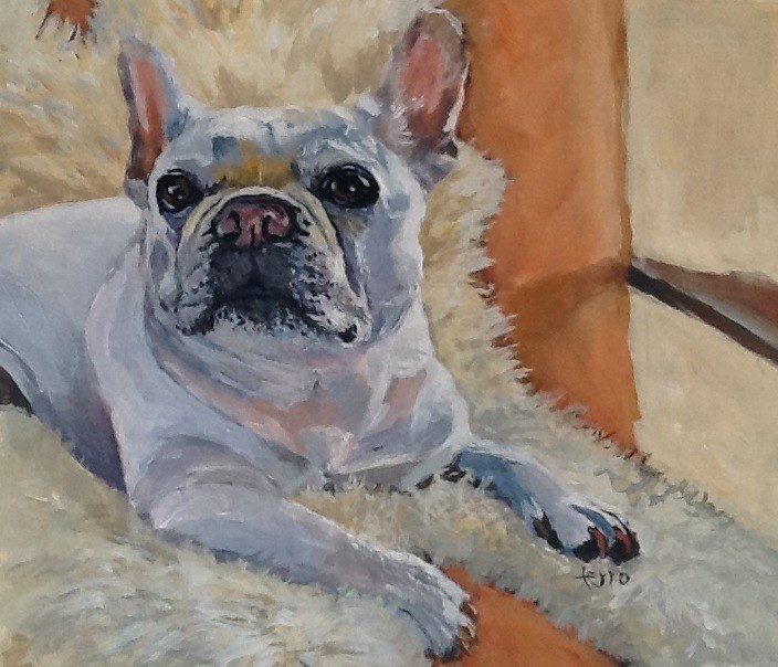 """Mademoiselle Cricket"" original fine art by Susan Ferro"
