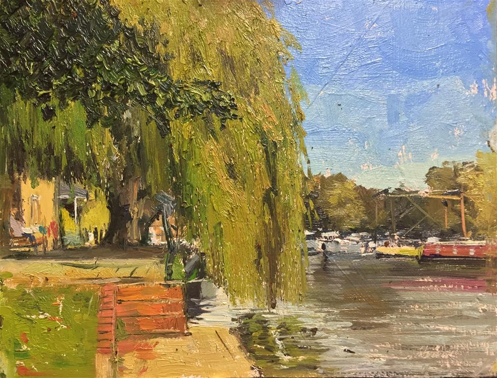"""The Weeping Willow, Ely"" original fine art by Adebanji Alade"