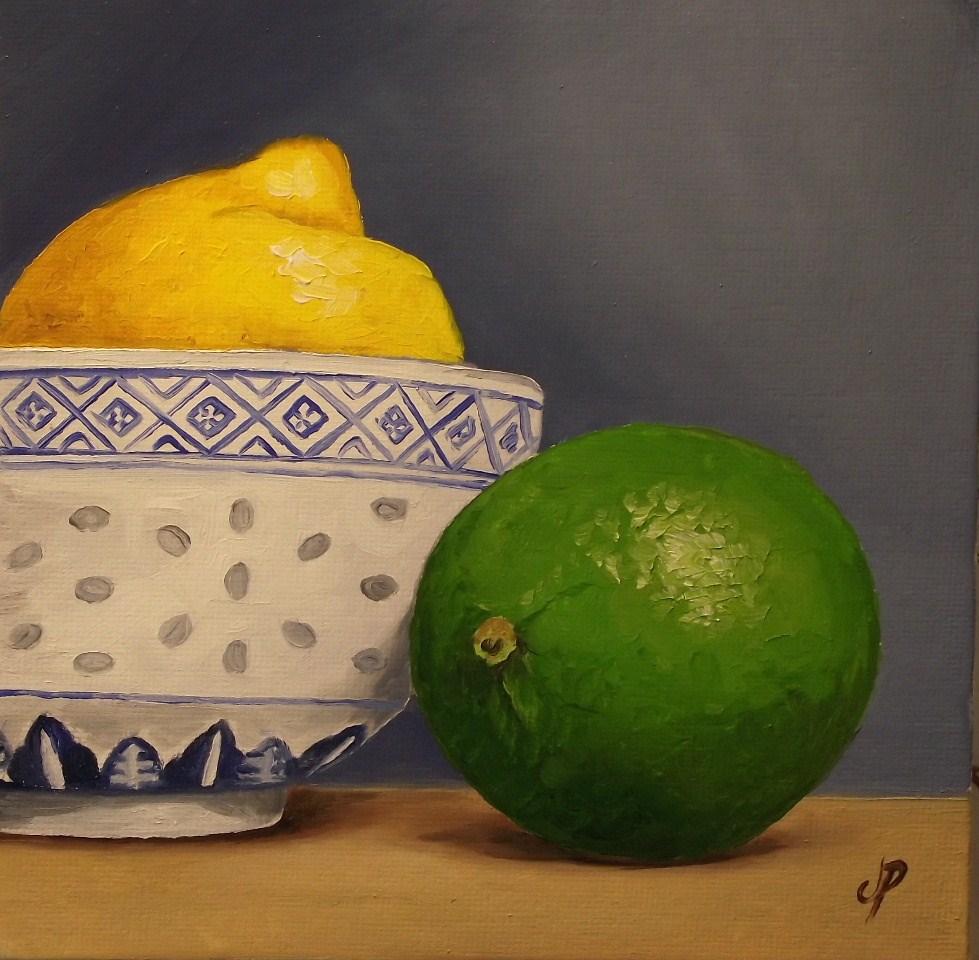 """Lemon & Lime"" original fine art by Jane Palmer"