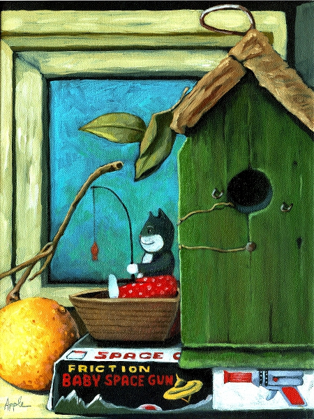"""Attic Window"" original fine art by Linda Apple"