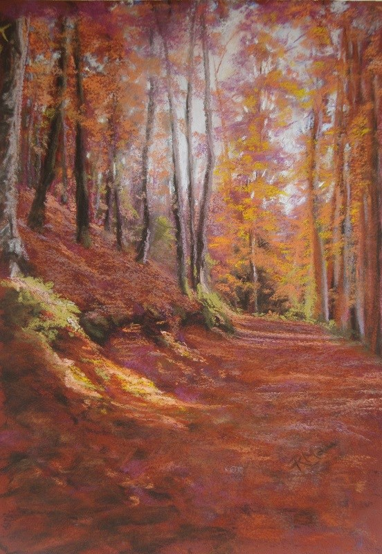 """Autumn Wood 4"" original fine art by Ruth Mann"