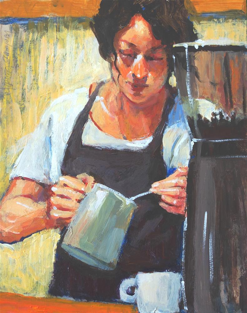 """Fresh Brew"" original fine art by Lorraine Lewitzka"