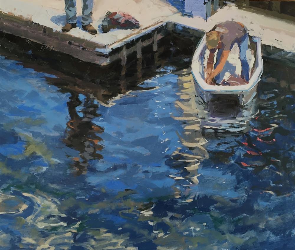 """Tethered, Monterey"" original fine art by Haidee-Jo Summers"