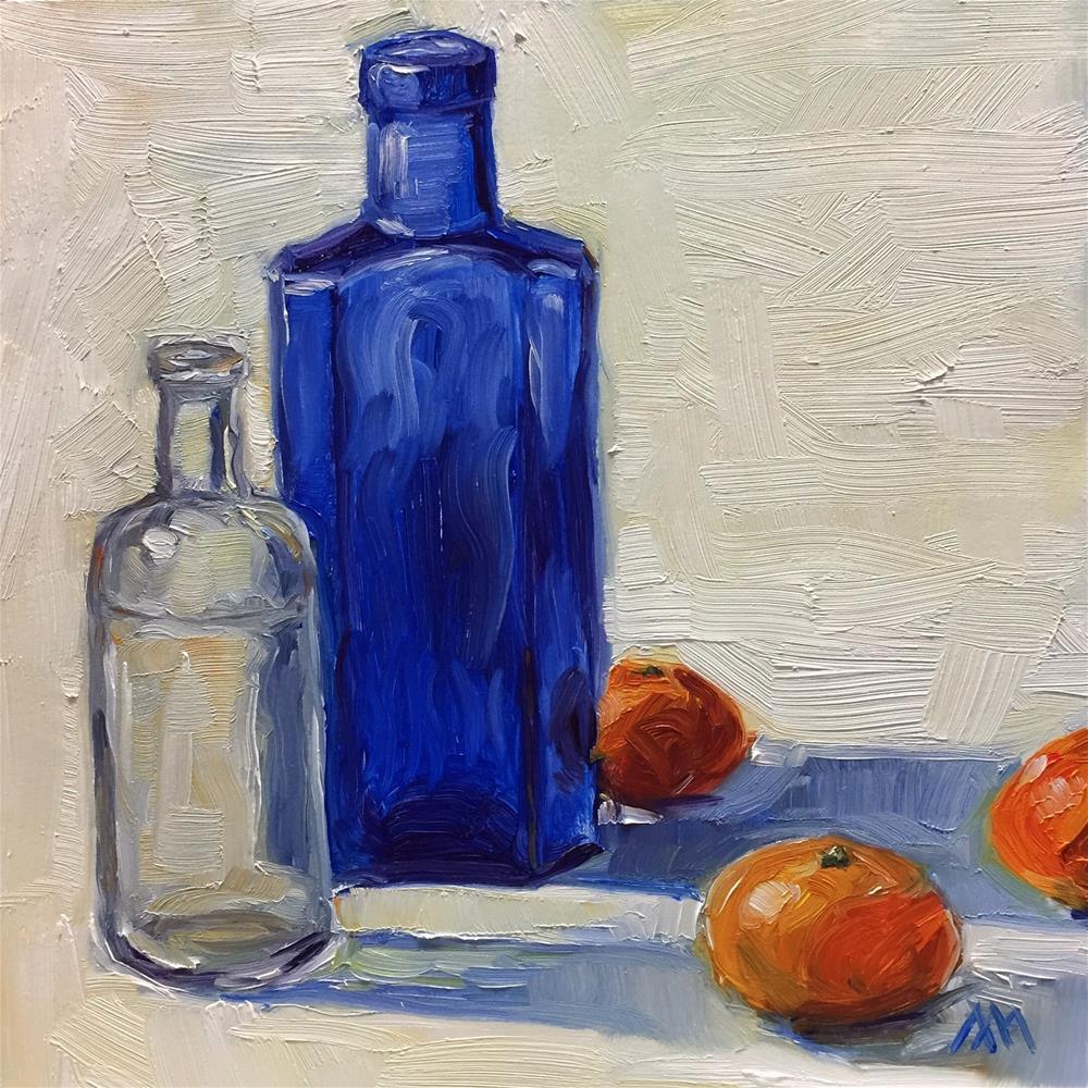 """Bottles and Mandarins"" original fine art by Austin Maloney"