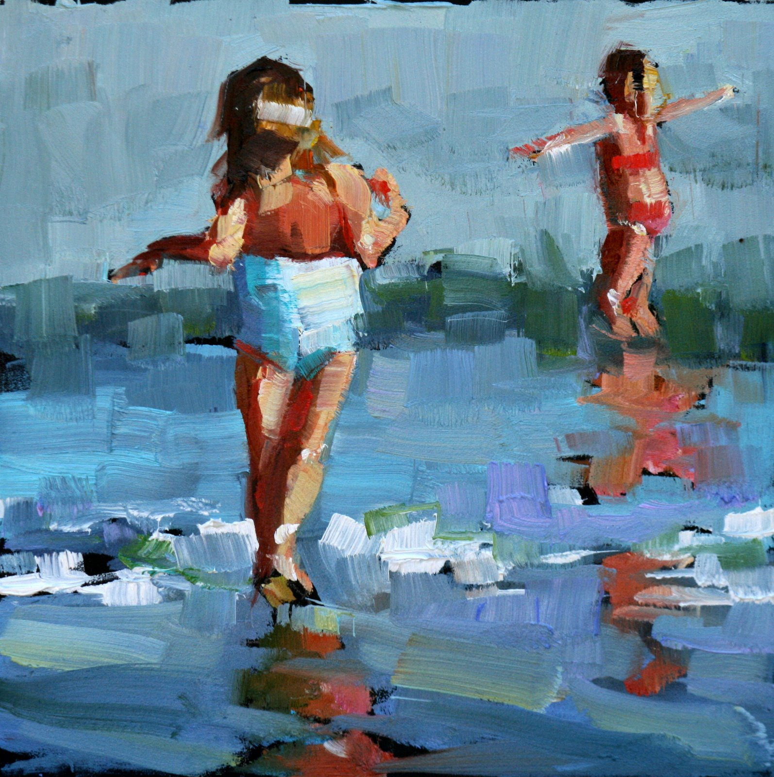 """Frolicking"" original fine art by Carol Carmichael"