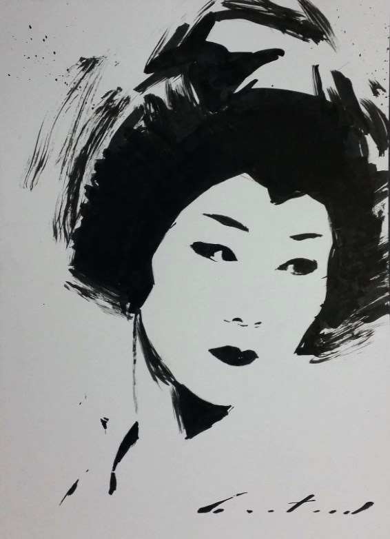 """Ayano"" original fine art by Phil Couture"