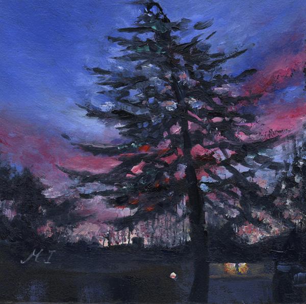 """""""Xmas Tree"""" original fine art by Mariko Irie"""