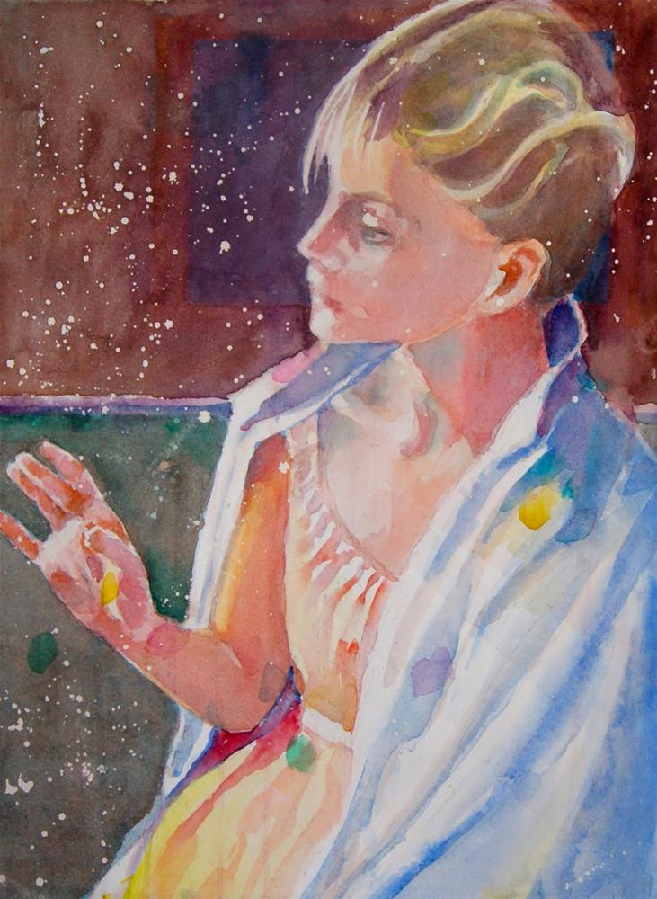 """Cotemplative Hand Study"" original fine art by Reveille Kennedy"