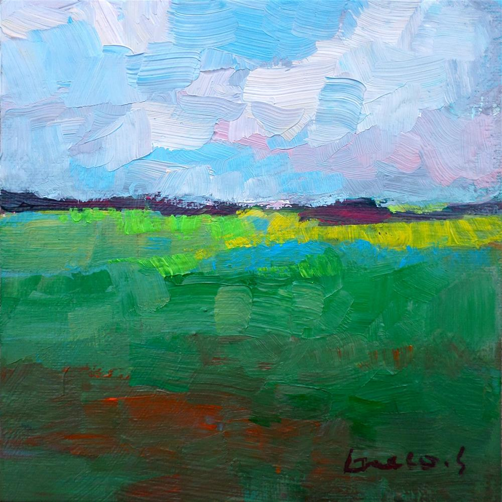 """The green field"" original fine art by salvatore greco"