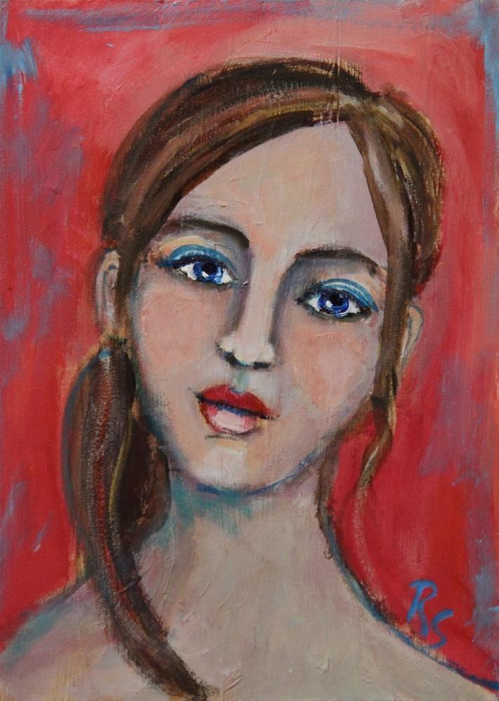 """Rosemary"" original fine art by Roberta Schmidt"