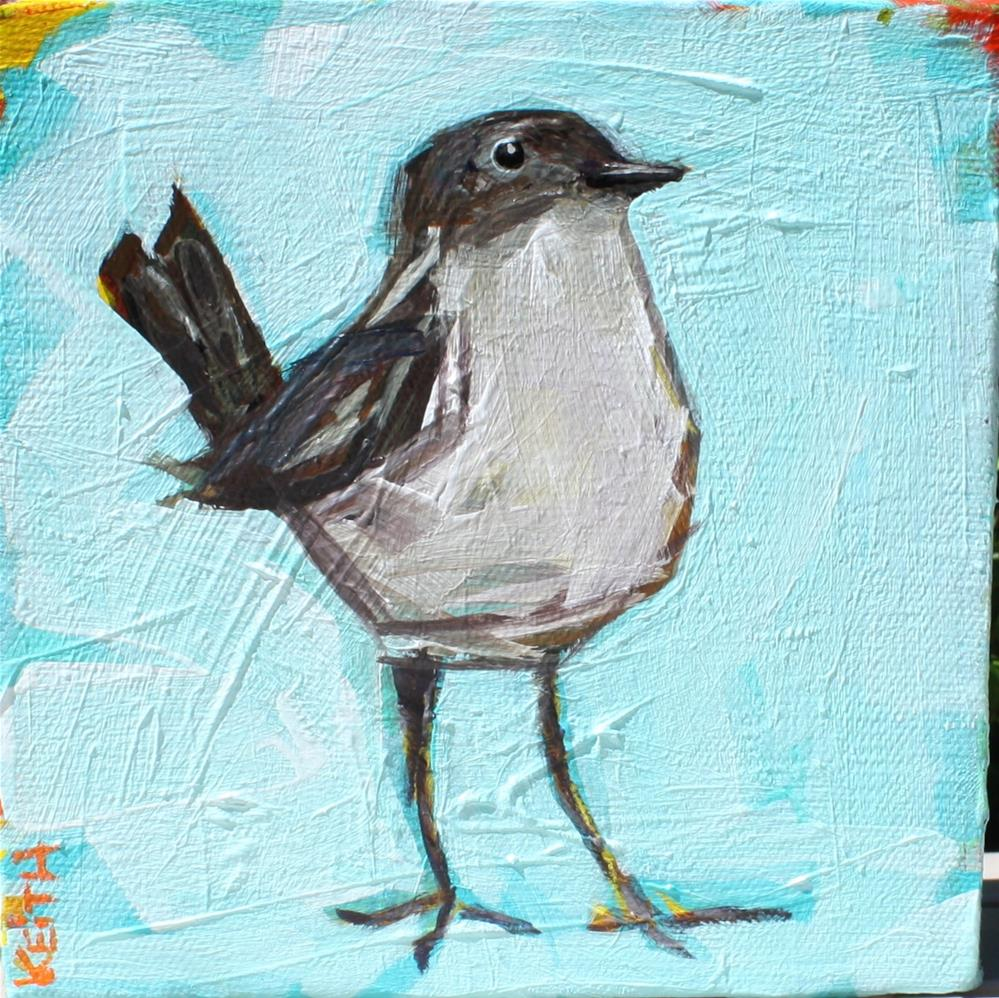 """Bright Little Wren"" original fine art by Kandice Keith"