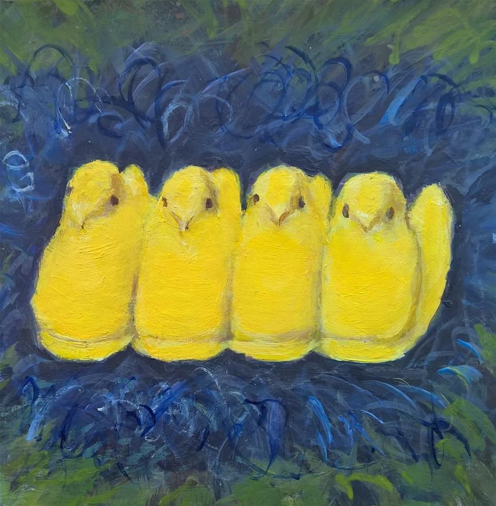 """""""Peeps!"""" original fine art by Joan Matero"""