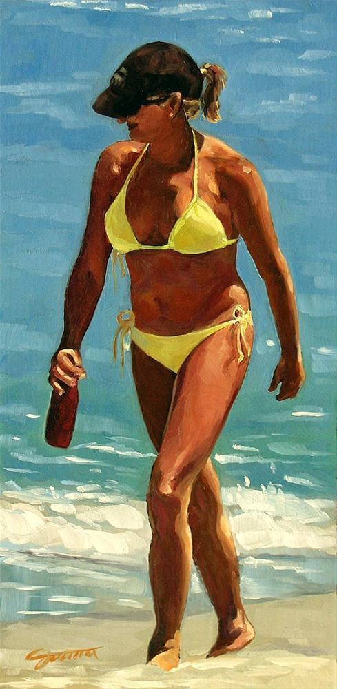 """Yellow Bikini"" original fine art by Joanna Bingham"