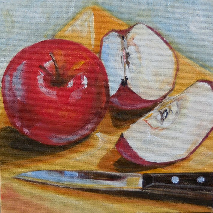 """Apple Snack"" original fine art by Beth Moreau"
