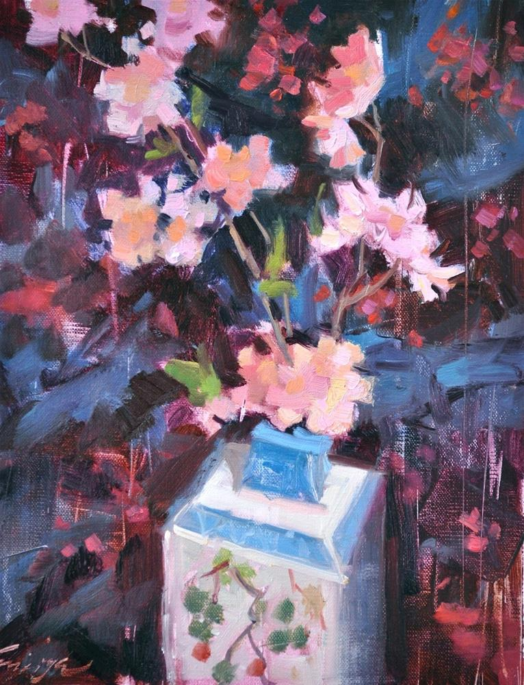 """Oriental Bloom"" original fine art by Emiliya Lane"