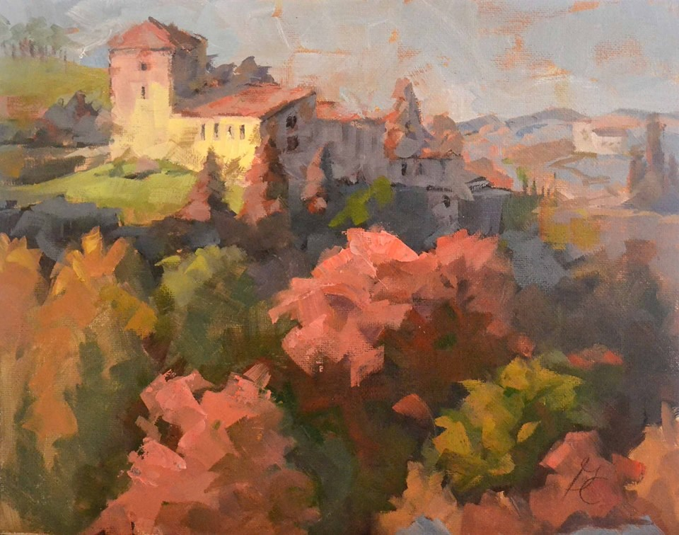 """spain in fall"" original fine art by Garry Colby"