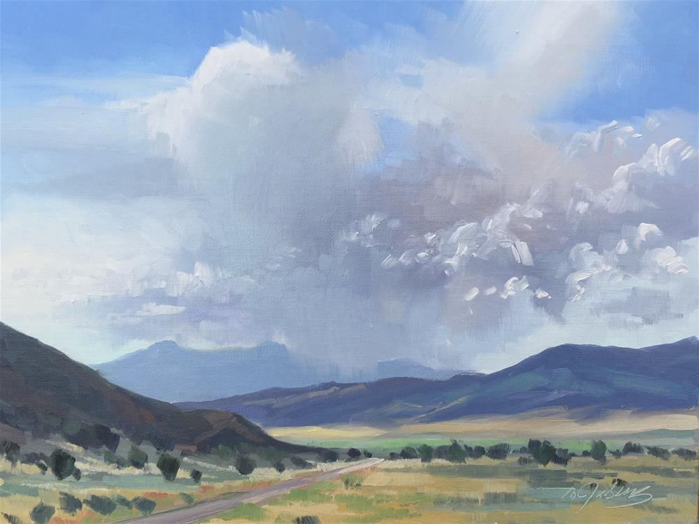 """Storms Over Pine Valley Mtns"" original fine art by Mary Jabens"