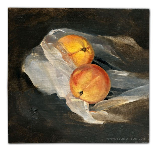 """Peach Study"" original fine art by Ester Wilson"