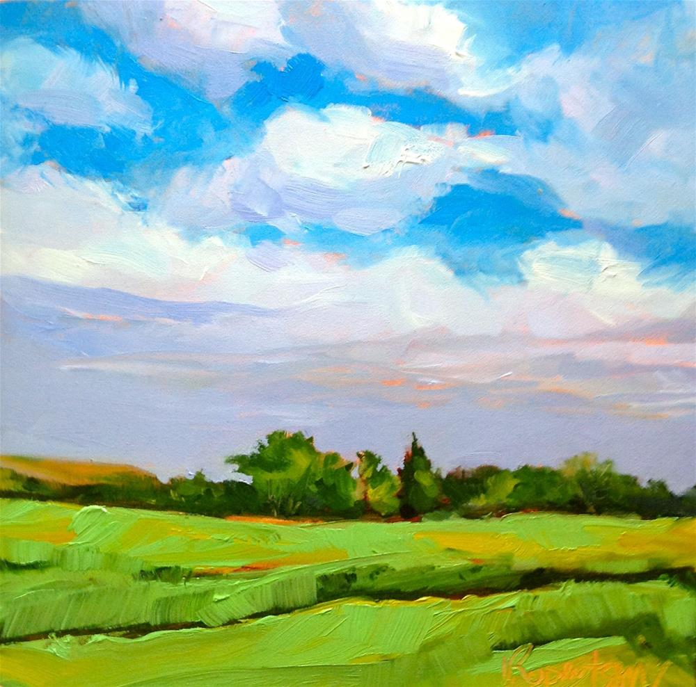 """Summer Fields"" original fine art by Jane Robertson"