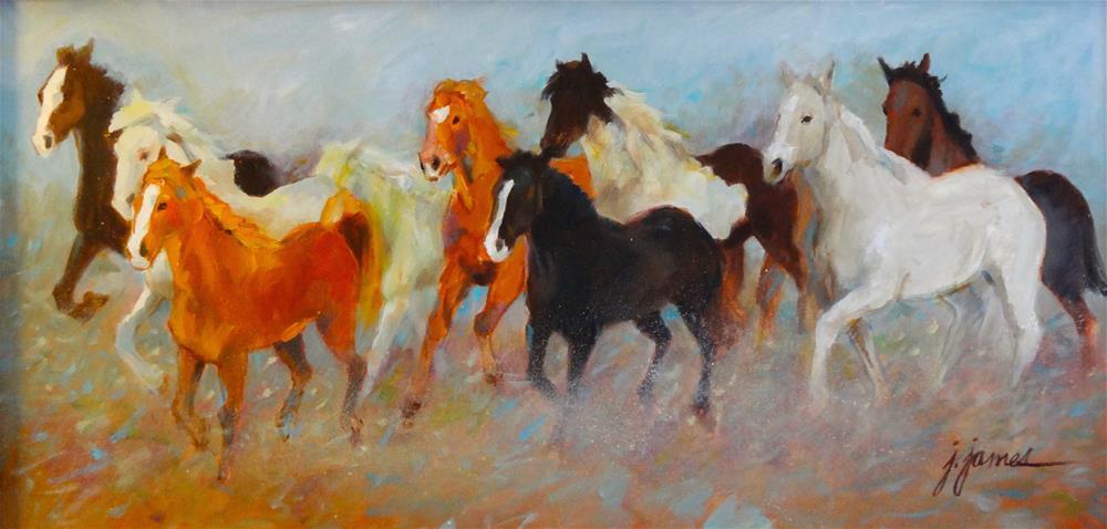 """Stampeeede"" original fine art by Jini James"