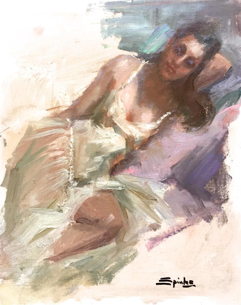 """Creme De Menthe"" original fine art by Johanna Spinks"