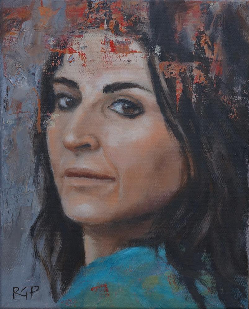 """Lita the Great"" original fine art by Rhea  Groepper Pettit"