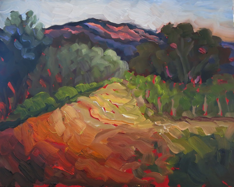 """SANDIA SHADOWS"" original fine art by Dee Sanchez"