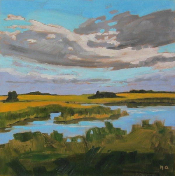 """The Marsh"" original fine art by Nicki Ault"