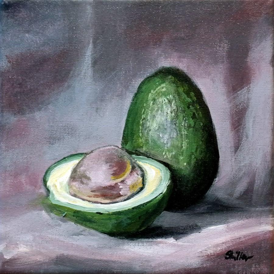 """""""1592 Avocado Rings"""" original fine art by Dietmar Stiller"""