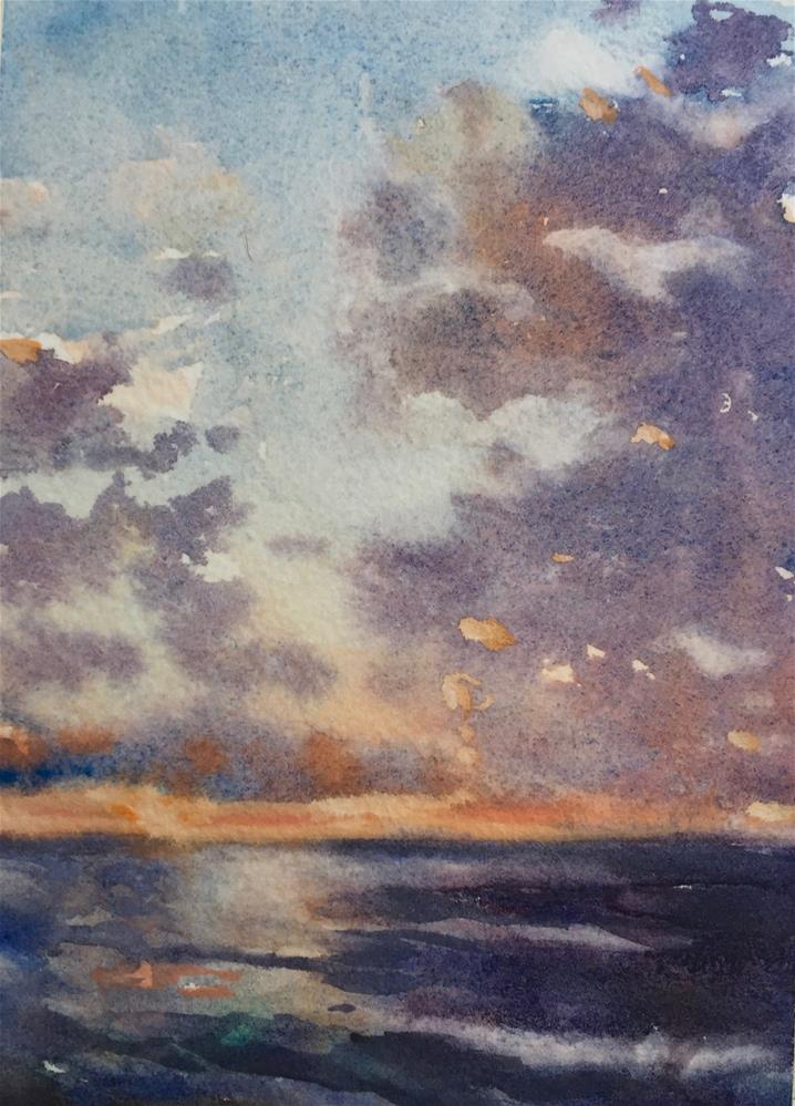 """""""Sunrise LBI New Jersey"""" original fine art by Laurie Maher"""